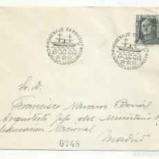 Sellos: HOMENAJE FARRAGUT CIRCULADA 1953 DE CIUDADELA BALEARES A ESTAFETA GOBERNACION MADRID. Lote 218609337
