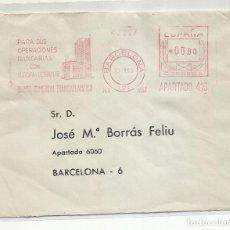 Sellos: FRANQUEO MECANICO 1963 BANCO COMERCIAL TRANSATLANTICO DE BARCELONA A BCN. Lote 218613927
