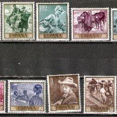 Sellos: ESPAÑA. 1964 .EDIFIL 1566/1575 -JOAQUIN SOROLLA . MNH. Lote 218808715