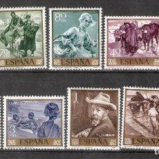 Sellos: ESPAÑA. 1964 .EDIFIL 1566/1575 -JOAQUIN SOROLLA . MNH. Lote 218809132