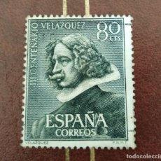Sellos: SELLO III CENTENARIO DE LA MUERTE DE VELAZQUEZ ESCULTURA ESPAÑA. Lote 218894448