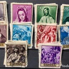 """Sellos: AÑO 1961. Nº1330/39. DOMENICO THEOTOCOPOULOS """"EL GRECO"""". 5 SERIES.. Lote 218934893"""