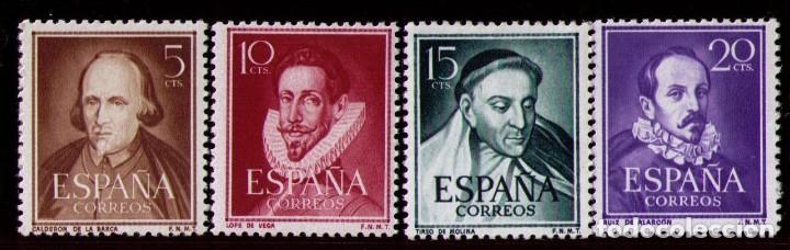 SELLOS DE ESPAÑA AÑO 1950 LITERATOS SELLOS NUEVOS** (Sellos - España - II Centenario De 1.950 a 1.975 - Nuevos)