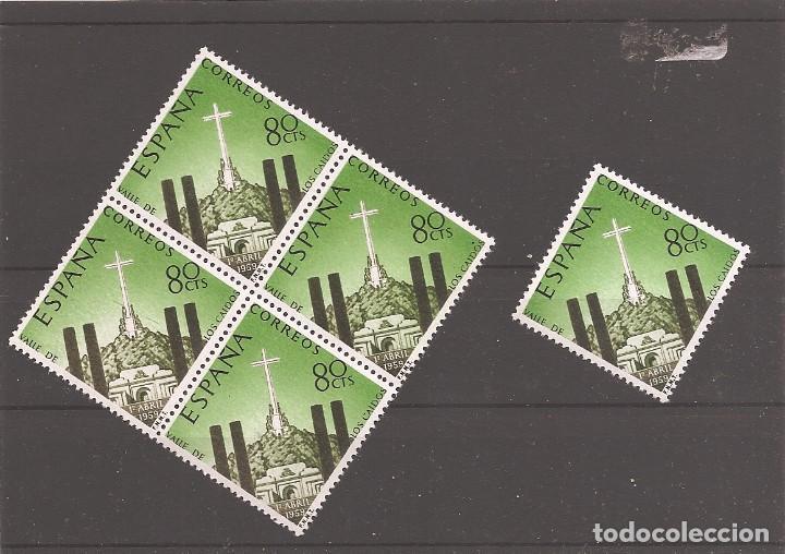 SELLOS DE ESPAÑA AÑO 1959 VALLE DE LOS CAÍDOS SELLOS NUEVOS** EN BLOQUE DE 4 + 1 (Sellos - España - II Centenario De 1.950 a 1.975 - Nuevos)