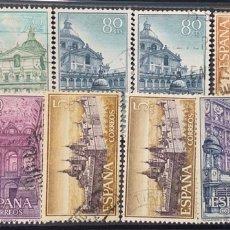 Sellos: AÑO 1961. Nº1382/87. REAL MONASTERIO DE SAN LORENZO DE EL ESCORIAL. 2 SERIES. Lote 219015705