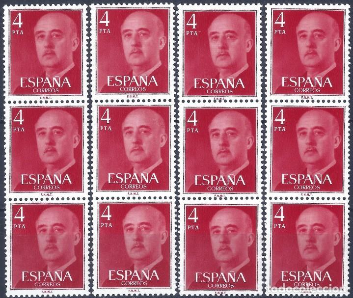 EDIFIL 2225A GENERAL FRANCO 1974-1975. 4 TRÍPTICOS CON NÚMERO DE CONTROL. VALOR CATÁLOGO: 6 €.MNH ** (Sellos - España - II Centenario De 1.950 a 1.975 - Nuevos)