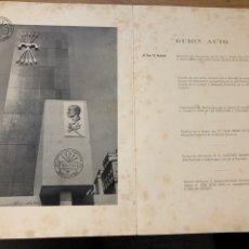 Sellos: PROGRAMA INAUGURACIÓN MONUMENTO JOSE ANTONIO. BARCELONA. SELLO EXPOSICIÓN FILATÉLICA 1964. Lote 219049500