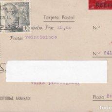 Sellos: TARJETA CONTRA REEMBOLSO DE EDITORIAL ARANZADI DESTINO VALLS. Lote 219199388