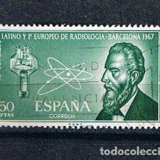 Sellos: EDIFIL 1790 CONGRESO EUROPEO RADIOLOGIA BARCELONA SELLO USADO ESPAÑA 1967. Lote 220141417