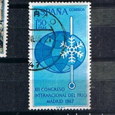 Sellos: EDIFIL 1817 CONGRESO INTERNACIONAL DEL FRIO SELLO USADO ESPAÑA 1967. Lote 220141737