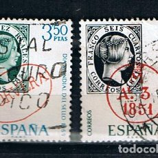 Sellos: EDIFIL 1922/23 DIA MUNDIAL DEL SELLO SELLO USADO ESPAÑA 1969. Lote 220142670