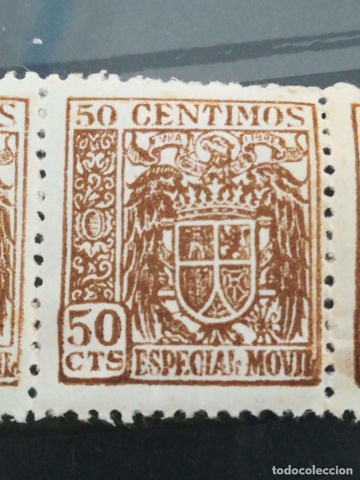 Sellos: Ser sellos España 50 cent. Especial móvil, con goma - Foto 2 - 220742291