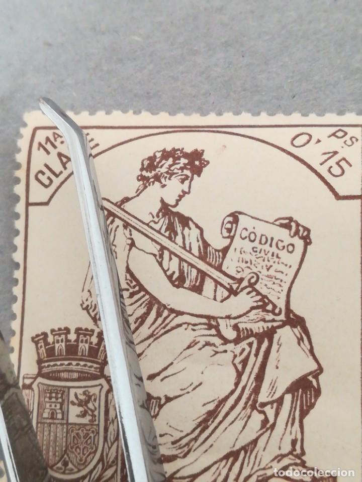 Sellos: Sellos España 11 clase Código civil 0,15 ps, con goma, con su numero - Foto 3 - 220743141