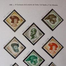 Timbres: ESPAÑA 1958 EDIFIL 1224-1231. * CENTENARIO MUERTE CARLOS I (VER FOTOS). Lote 220943595