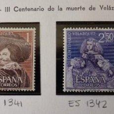 Timbres: ESPAÑA 1961 EDIFIL 1340-1343 CENTENARIO DE LA MUERTE DE VELÁZQUEZ NUEVO. Lote 220946551