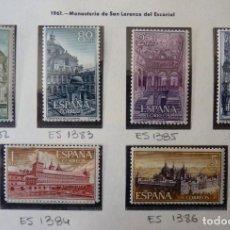 Timbres: ESPAÑA,1961, MONASTERIO DE EL ESCORIAL, EDIFIL 1382-1387*, COMPLETA. Lote 220948300