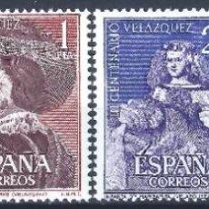 Sellos: EDIFIL 1340-1343 III CENTENARIO DE LA MUERTE DE VELÁZQUEZ 1961 (SERIE COMPLETA). V.C. 21 €. MNH **. Lote 220978328