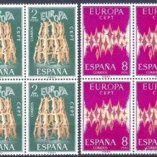 Sellos: EDIFIL 2090-2091 EUROPA-CEPT 1972 (SERIE COMPLETA EN BLOQUES DE 4)). MNH **. Lote 220982043