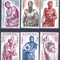 Sellos: EDIFIL 1438-1443 ALONSO DE BERRUGUETE 1962 (SERIE COMPLETA). VALOR CATÁLOGO: 8 €. MNH **. Lote 220983872