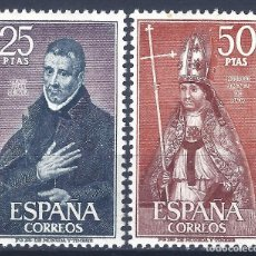 Sellos: EDIFIL 1961-1962 PERSONAJES ESPAÑOLES 1970 (SERIE COMPLETA). MNH **. Lote 220987585