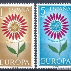 Sellos: EDIFIL 1613-1614 EUROPA-CEPT 1964 (SERIE COMPLETA). MNH **. Lote 220993771