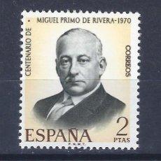 Sellos: EDIFIL 1976 CENTENARIO DEL NACIMIENTO DE MIGUEL PRIMO DE RIVERA 1970. MNH **. Lote 221003258