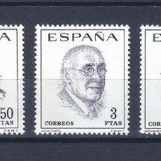 Sellos: EDIFIL 1758-1760 LITERATOS ESPAÑOLES. CENTENARIO DE SU NACIMIENTO 1966 (SERIE COMPLETA). MNH **. Lote 221003786