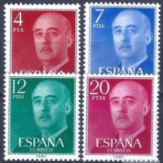 Sellos: EDIFIL 2225-2228 GENERAL FRANCO 1974-1975 (SERIE COMPLETA). MNH **. Lote 221004695