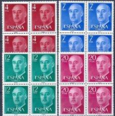 Sellos: EDIFIL 2225-2228 GENERAL FRANCO 1974-1975 (SERIE COMPLETA EN BLOQUES DE 4). MNH **. Lote 221004752