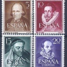 Sellos: EDIFIL 1071-1074 LITERATOS 1950-1953 (SERIE COMPLETA). EXCELENTE CENTRADO. MNH **. Lote 221099785