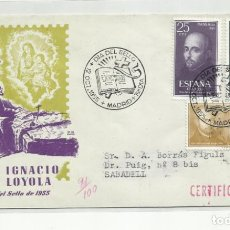 Sellos: SPD CIRCULADA 1955 DE MADRID A SABADELL. Lote 221259428