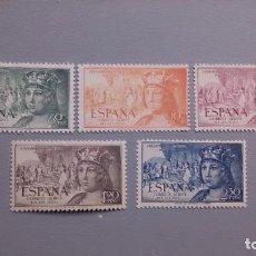 Sellos: ESPAÑA - 1952 - EDIFIL 1111/1115 - SERIE COMPLETA - MNH** - NUEVOS - VALOR CATALOGO 33,50€.. Lote 221276011