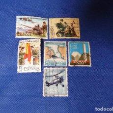 Sellos: ESPAÑA XXV ANIV ALZAMIENTO, Y DIA FZAS.ARMADAS, SELLOS USADOS, BIEN CONSERVADOS.VER FOTOS.. Lote 221594485