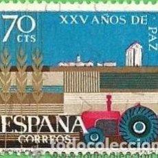 Sellos: SELLOS ESPAÑA EDIFIL 1580 AÑO 1964 USADOS XXV AÑOS DE PAZ. Lote 221720960