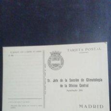 Sellos: FRANQUICIA. SERVICIO METEOROLÓGIGO. MOD. 444-62. BEIGE. TARJETA POSTAL. SIN CIRCULAR. Lote 221771453