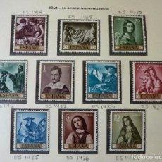 Timbres: ESPAÑA 1962 EDIFIL 1418-1427 FRANCISCO DE ZURBARÁN (SERIE COMPLETA). VALOR CATÁLOGO: 22 €. MNH **. Lote 221775808