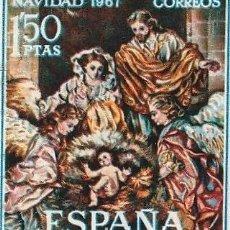 Sellos: NAVIDAD: NACIMIENTO DE SALZILLO. 1967.EDIFILL 1838. Lote 222068932