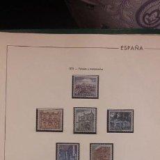 Sellos: SELLOS ESPAÑA AÑO 1970 COMPLETO CON SUPLEMENTO HOJAS EDIFIL AÑO 1970 MONTADAS EN NEGRO HES70. Lote 222118841