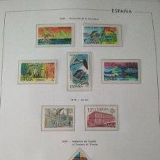 Sellos: SELLOS ESPAÑA AÑO 1978 COMPLETO CON SUPLEMENTO HOJAS EDIFIL AÑO 1978 MONTADAS EN TRANSPARENTE HES70. Lote 222119578