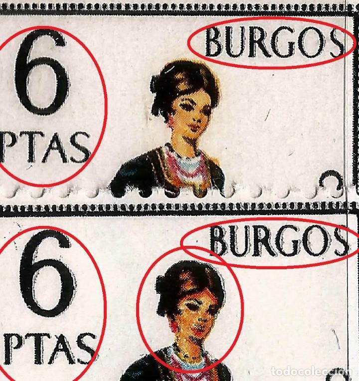 EDIFIL 1775 TRAJES - BURGOS - VARIEDAD - 2 FOTOS (Sellos - España - II Centenario De 1.950 a 1.975 - Nuevos)