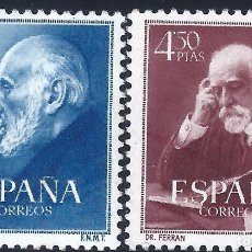 Sellos: EDIFIL 1119-1120 DOCTORES RAMÓN Y CAJAL Y FERRÁN 1952 (SERIE COMPLETA). VALOR CATÁLOGO: 30 €. MH *. Lote 222135803