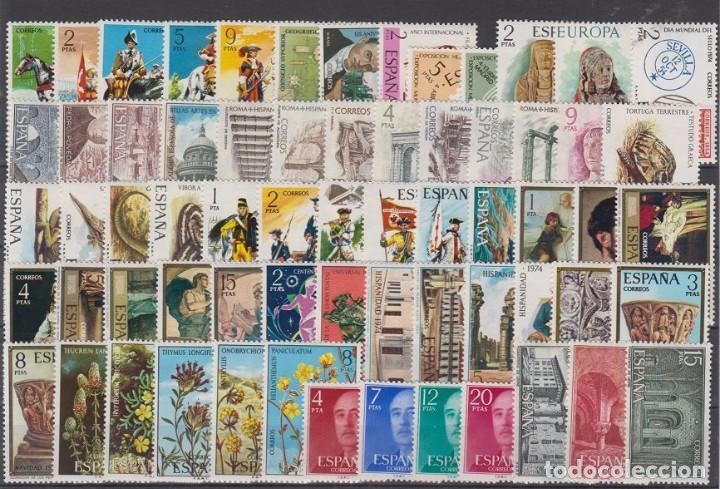 SELLOS ESPAÑA 1974 AÑO COMPLETO MNH NUEVOS GOMA ORIGINAL (Sellos - España - II Centenario De 1.950 a 1.975 - Nuevos)