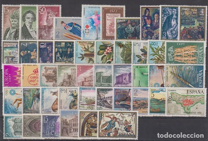 SELLOS ESPAÑA 1972 AÑO COMPLETO MNH NUEVOS GOMA ORIGINAL (Sellos - España - II Centenario De 1.950 a 1.975 - Nuevos)