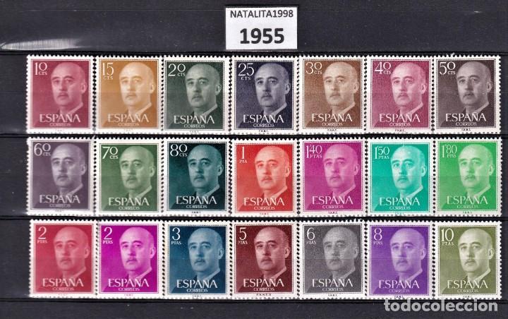 SELLOS ESPAÑA 1955 SERIES COMPLETAS MNH GOMA ORIGINAL EDIFIL 1143/1163 (Sellos - España - II Centenario De 1.950 a 1.975 - Nuevos)