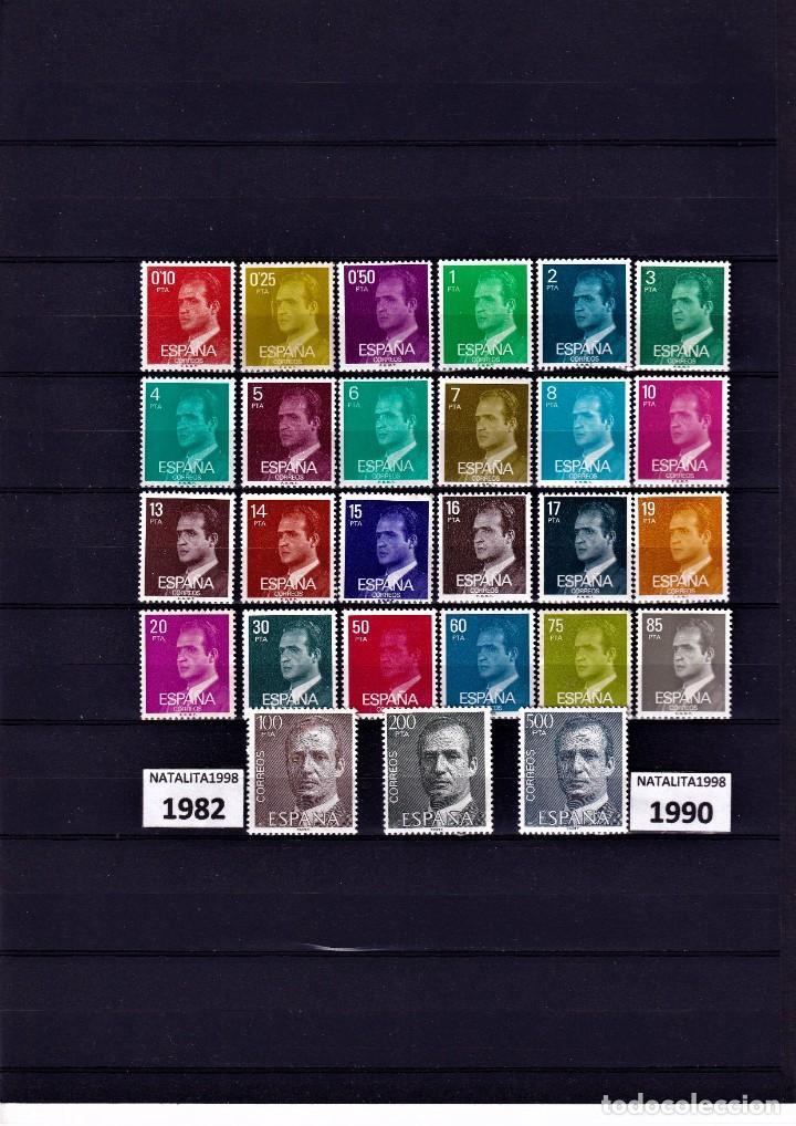 SELLOS ESPAÑA 1982 A 1990 SERIE BASICA DEL REY PAPEL FOSFORO MNH NUEVOS GOMA ORIGINAL (Sellos - España - II Centenario De 1.950 a 1.975 - Nuevos)