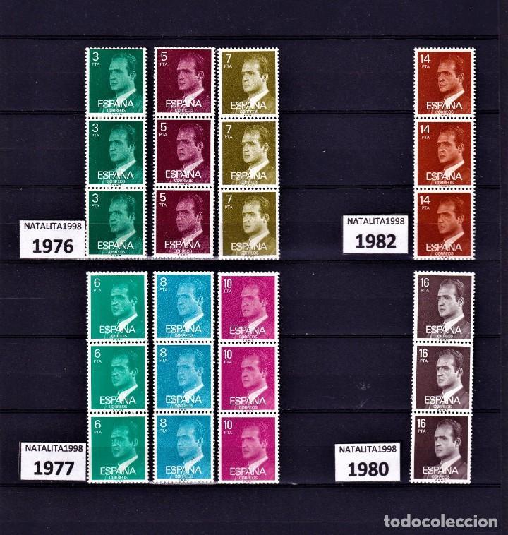 SELLOS ESPAÑA 1976 A 1980 TRIPTICOS DE REY MNH NUEVOS GOMA ORIGINAL (Sellos - España - II Centenario De 1.950 a 1.975 - Nuevos)