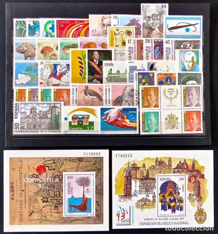SELLOS ESPAÑA 1993 AÑO COMPLETO MNH NUEVOS GOMA ORIGINAL (Sellos - España - II Centenario De 1.950 a 1.975 - Nuevos)