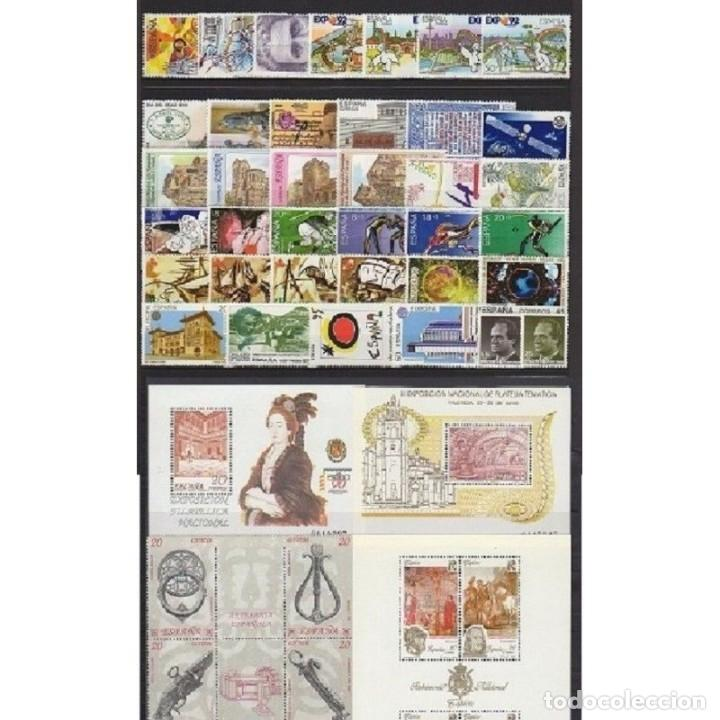SELLOS ESPAÑA 1990 AÑO COMPLETO MNH NUEVOS GOMA ORIGINAL (Sellos - España - II Centenario De 1.950 a 1.975 - Nuevos)
