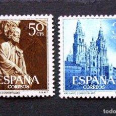 Sellos: 1130-1131 - SERIE COMPLETA 50 CENTIMOS - 3 PESETAS 1954 . NUEVOS CON CHARNELA. Lote 222807611