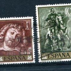 Sellos: EDIFIL 1434/1437. SERIE COMPLETA DE RUBENS. MATASELLADOS. Lote 222811342